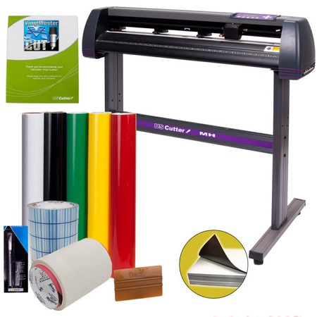 USCutter Vinyl Cutter Bundle On White Background