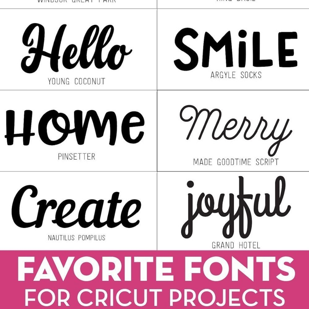 best fonts for cricut